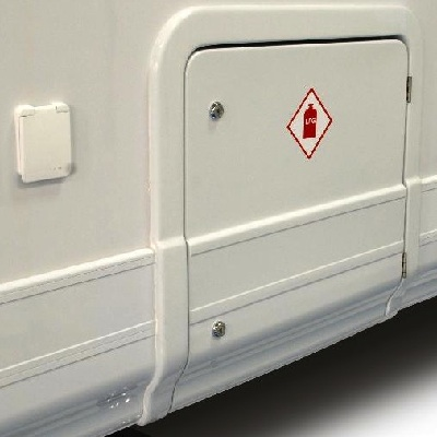 Motorhome alarm locker