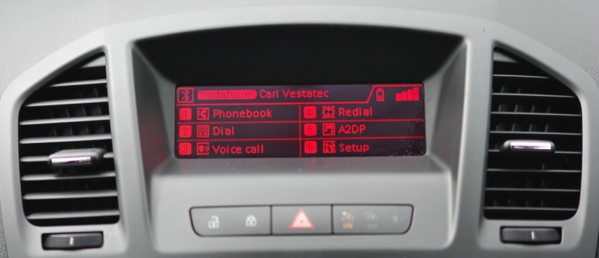 Vauxhall Retrofit Bluetooth Handsfree fitted